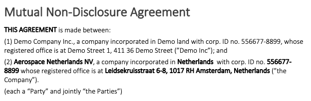 Example of what bold formatted references look like in a document generated in Precisely
